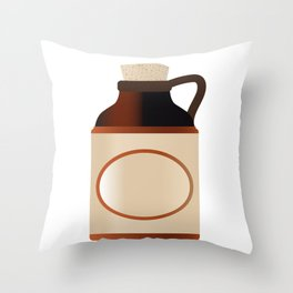 Blank Stone Bottle With Cork Throw Pillow