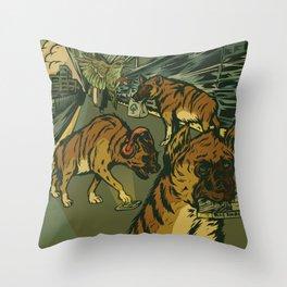 The AM Commute Throw Pillow