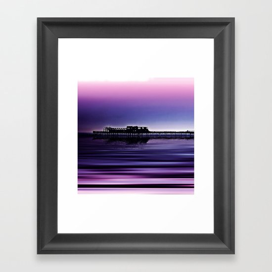 Destructive Beauty Framed Art Print