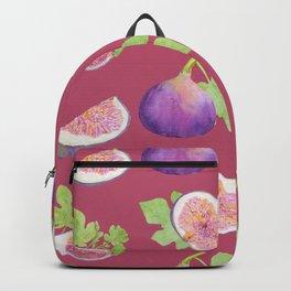 Figs fruit watercolor pattern Backpack