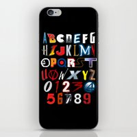 movies iPhone & iPod Skins featuring 'M' is for 'Movies' by Andrew Treherne