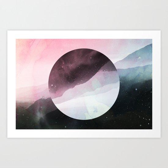 Serenity in Rose Art Print