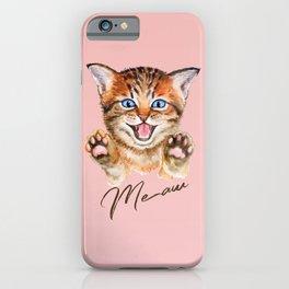 Watercolour meaw kitten iPhone Case