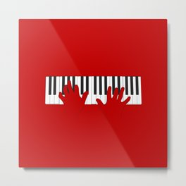 Piano Hands Metal Print