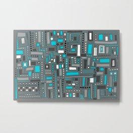 Turquoise Dream (Pattern) Metal Print