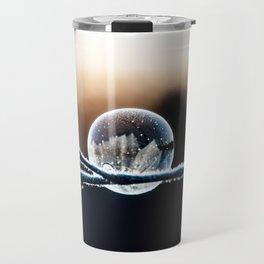 Wintry World in Frozen Bubble Travel Mug