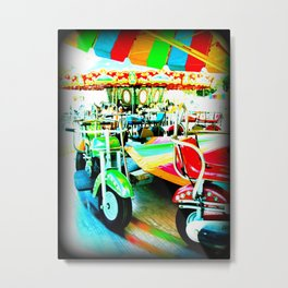Merry Go Round Motorbikes at the Carnival Metal Print