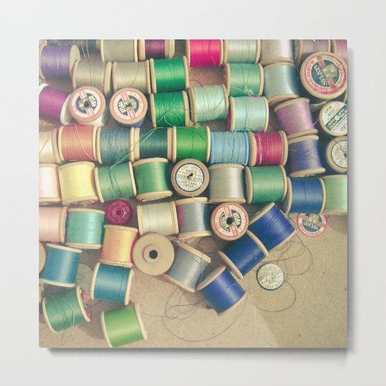 Cotton Reels Metal Print