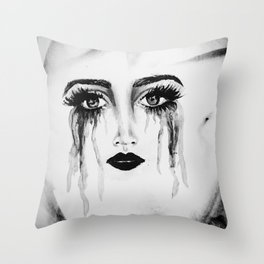 Expressionless Expression Throw Pillow