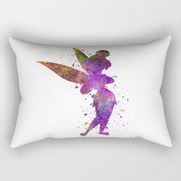 Tinker bell in watercolor Rectangular Pillow