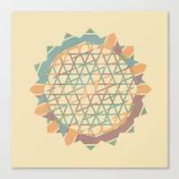 fractal Canvas Prints featuring Fractal by Zach Terrell