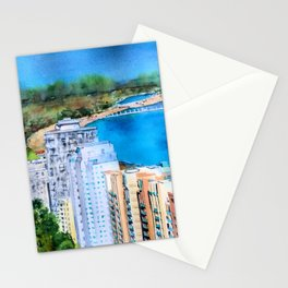The Beauty of Long Beach from Above Stationery Cards