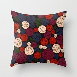 Minimal roses Throw Pillow