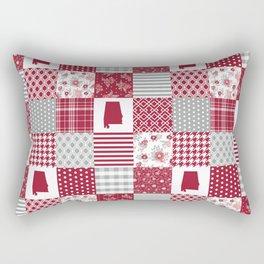 Alabama university crimson tide quilt pattern college sports alumni gifts Rectangular Pillow