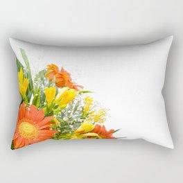Arranged wedding handheld bouquet Rectangular Pillow