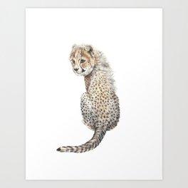 Watercolor Cheetah Painting Art Print
