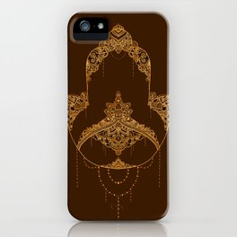 Autumn Hamsa iPhone Case