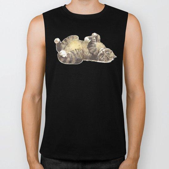 Tabby cat Biker Tank