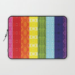 TorsoPattern Gay Pride Flag (Original 8-Color) Laptop Sleeve