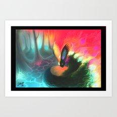 dream fox Art Print