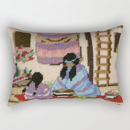 Cross Stitch Southwest Art 1a by Kathy Morton Stanion Rectangular Pillow