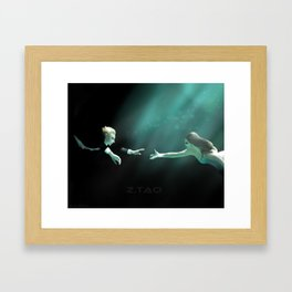 The Waves Will Be Here For You - TAO Framed Art Print