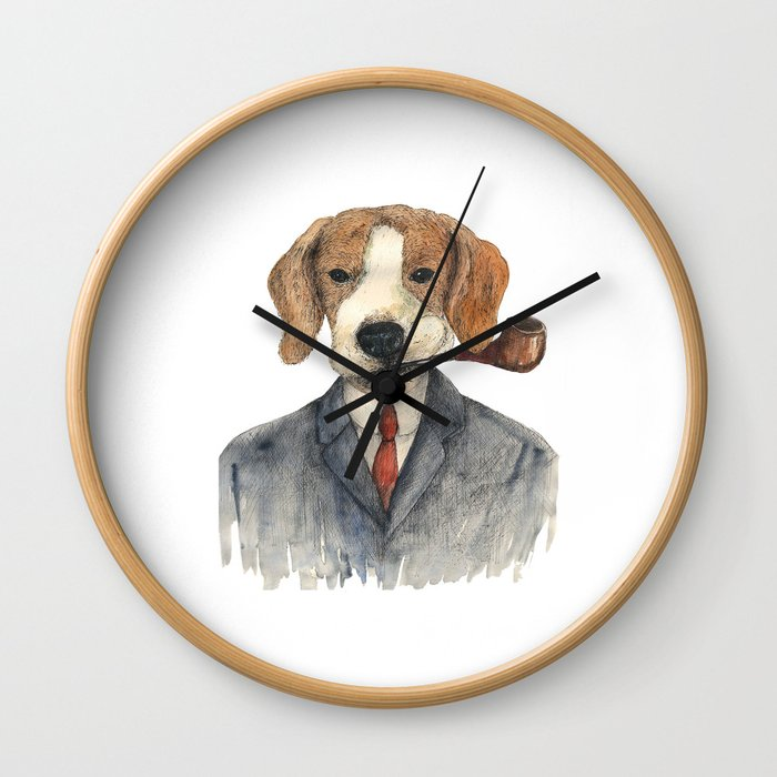 Monsieur Beagle Wall Clock
