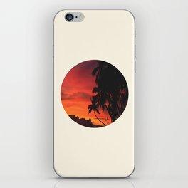Beautiful Red & Orange Tropical Sunset iPhone Skin