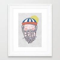 beard Framed Art Prints featuring BEARD by Nazario Graziano