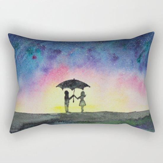 Star rain || watercolor Rectangular Pillow