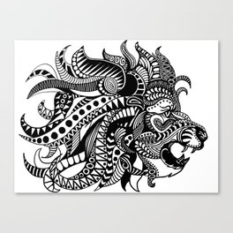 Tangled Lion Canvas Print