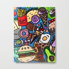 Funky Foodie Metal Print