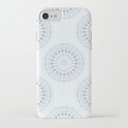 Teal Aqua Mandala iPhone Case