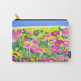 Poppy Field Carry-All Pouch