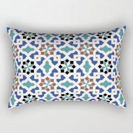 Geometric Pattern - Oriental Design Pt. 7x - seamless design ,blue, green Rectangular Pillow