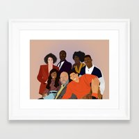 fresh prince Framed Art Prints featuring The Fresh Prince by Jara Montez