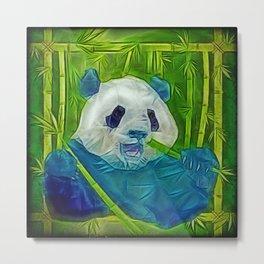 abstract panda Metal Print