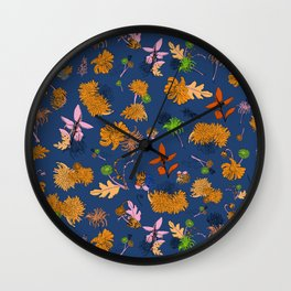 Spring has sprung (blue) Wall Clock