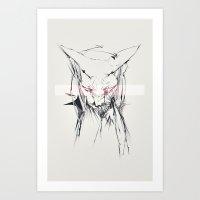 sphynx Art Prints featuring sphynx by Lisseau Design Lab