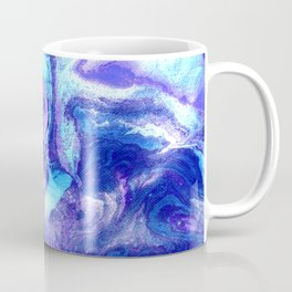 Swirling Marble in Aqua, Purple & Royal Blue Coffee Mug