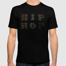 HIP HOP MEDIUM Black Mens Fitted Tee