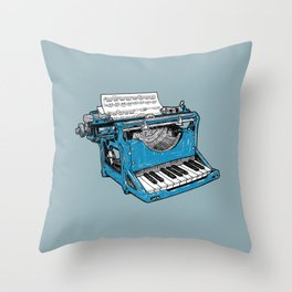 The Composition - Original Colors. Throw Pillow