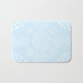 Snow & Ice Love Symbol Mandala Bath Mat