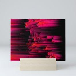 Burnout - Glitch Abstract Pixel Art Mini Art Print