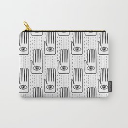 adorned palm - black and white Carry-All Pouch