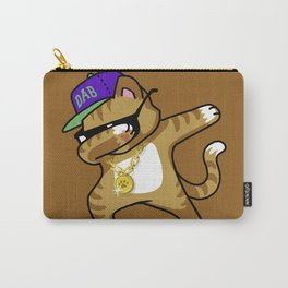 Dabbing Cat Caramel Carry-All Pouch
