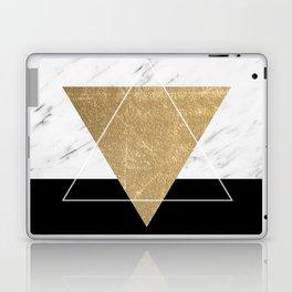 Golden marble deco geometric Laptop & iPad Skin