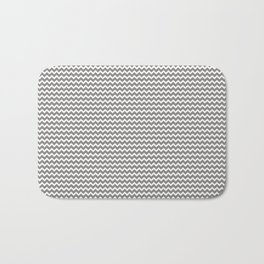 Chevron Zigzag Horizontal Lines Benjamin Moore 2019 Accent Color Cinder Dark Gray AF-705 on Pure Whi Bath Mat
