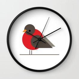 Red Robin. Single Bird Wall Clock