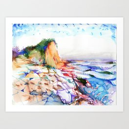 wizardly bolinas beach Art Print